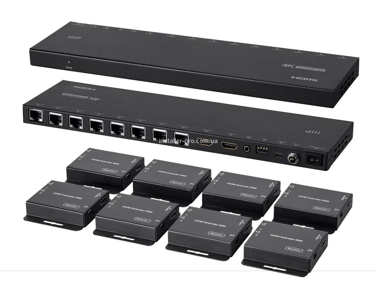 MP18787 Blackbird 4K HDMI 1x8 сплиттер