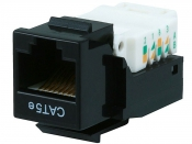 Monoprice, Inc (USA)/MP1076 - Cat5E RJ-45 Keystone Jack под обжим, цвет - черный