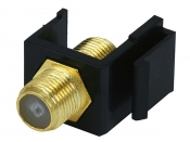 Monoprice, Inc (USA)/MP6544 Keystone Jack - модуль тип F (черный)