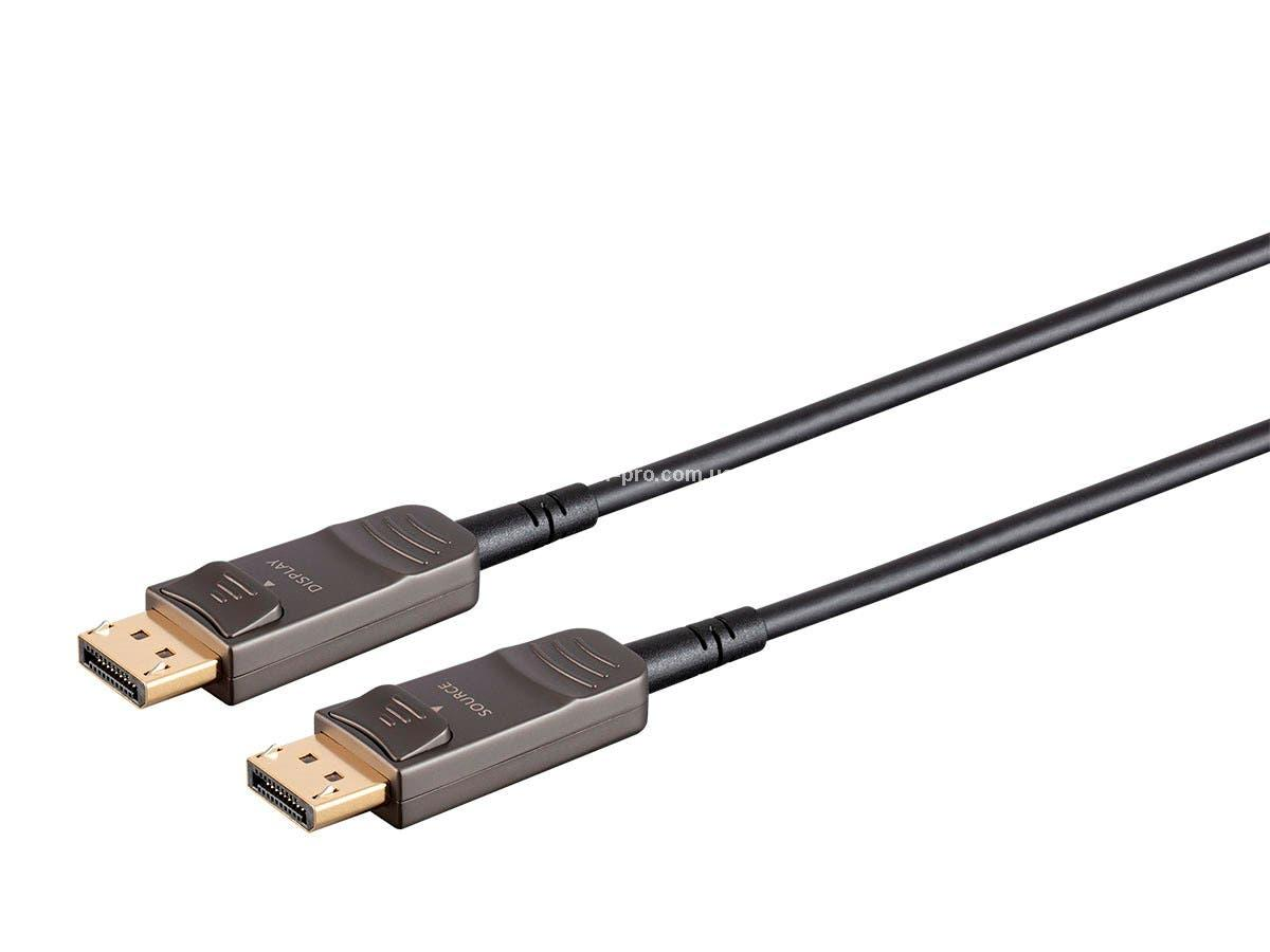 MP21806 SlimRun AV DisplayPort Cable, 32.4Gbps, 8K@30Hz, 5K@60Hz, 4K@120Hz, Fiber Optic, AOC, длина - 15.00 м.