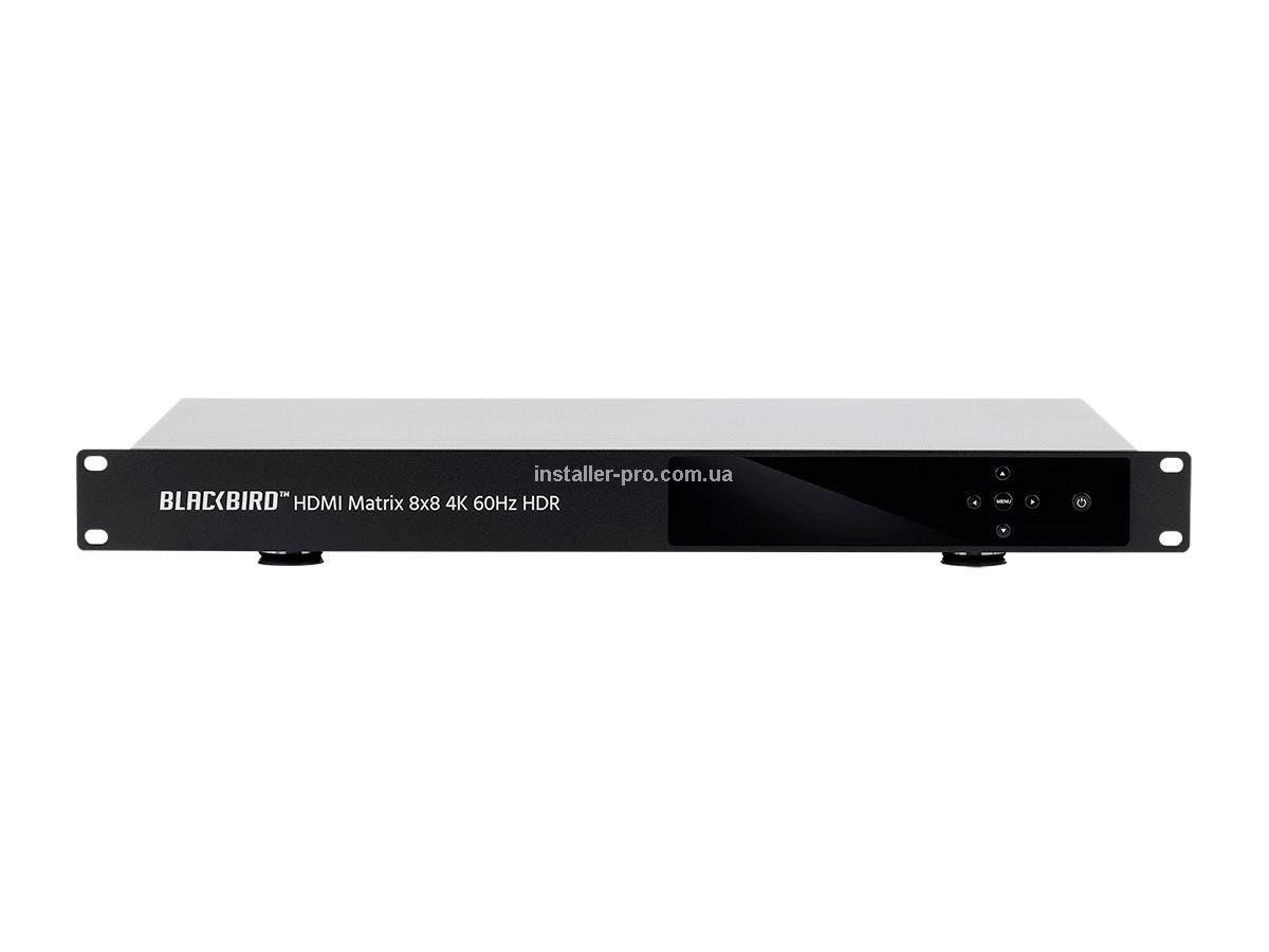 MP39665 Blackbird 4K HDMI Matrix, 8x8, HDR, 18G, 4K @ 60Hz, YCbCr 4: 4: 4, EDID, IR, RS-232, Coaxial, Audio Out