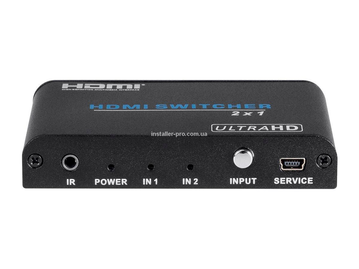 MP15261 Blackbird 4K 2x1 HDMI 2.0 Switch, HDR, HDCP 2.2, 4K@60Hz