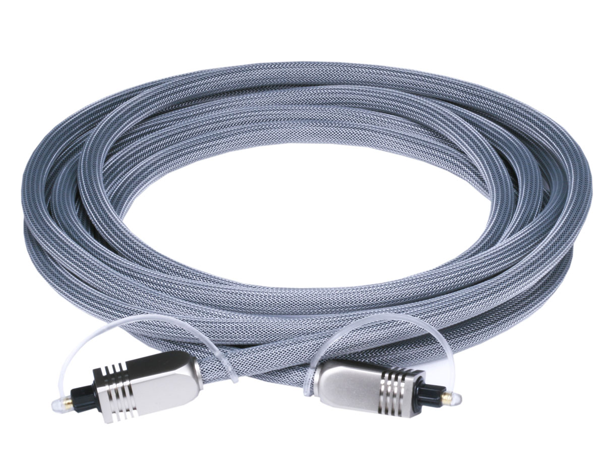 Premium S/PDIF (Toslink) Digital Optical Audio Cable, длина 3.00 м.