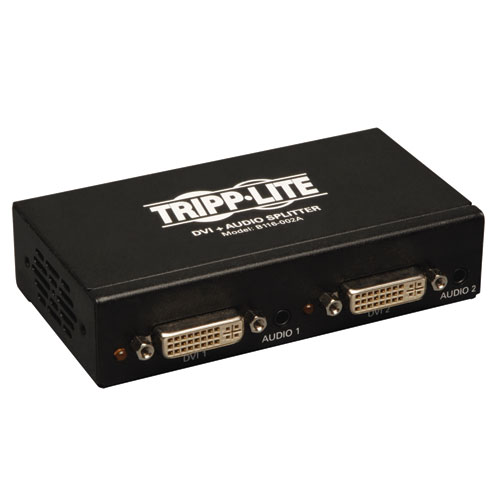 Tripp Lite B116-002A - Сплиттер 2-х портовый DVI + Audio